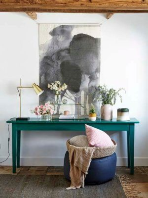 Musk Green Console Table