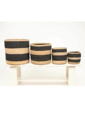 Mchoro Black Stripe Basket